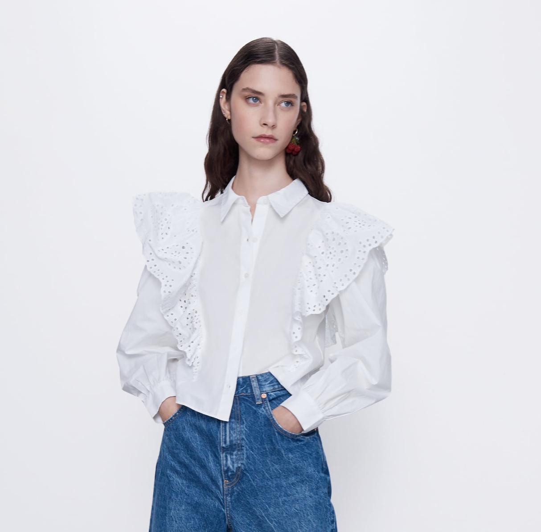 Carolina Arango Zara Finds March 2020 Poplin Top